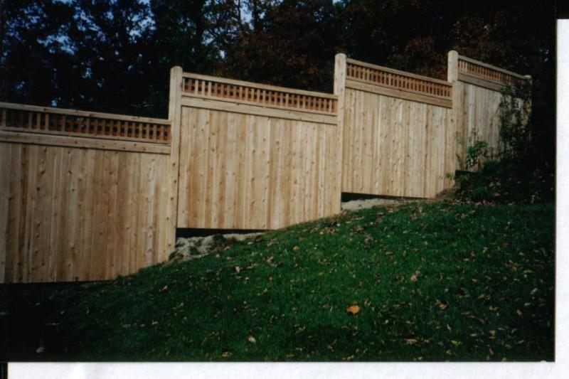 Wood Fence, With Lattice