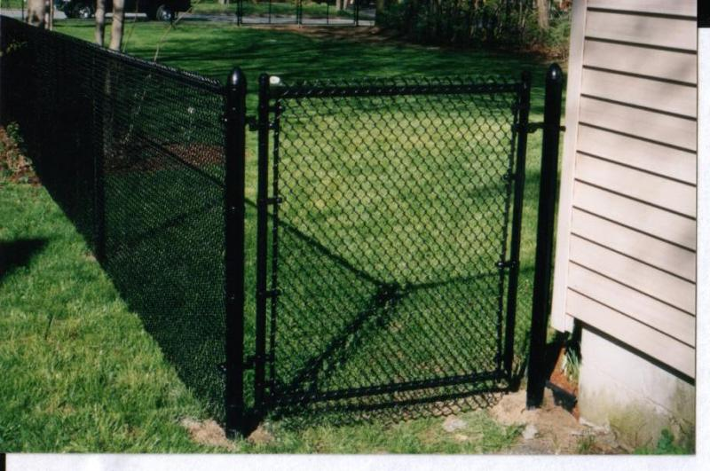 Black Vinyl-Coated Chain Link, Pool Code with Gate